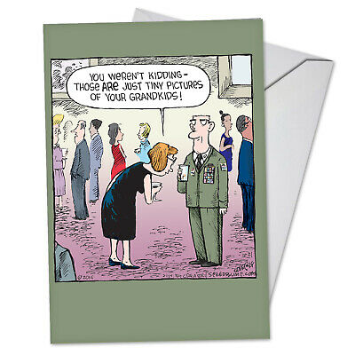 1 Funny Fathers Day Card with Envelope - Proud Grandpa C3574FDG