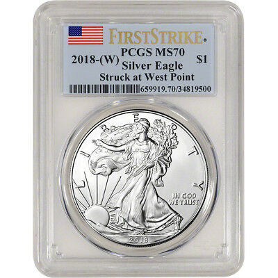 2018-W American Silver Eagle - PCGS MS70 - First Strike