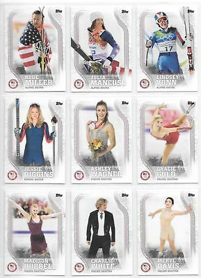 2018 TOPPS U-S- WINTER OLYMPIC - PARALYMPIC 93 CARD COMPLETE BASE SET TEAM USA