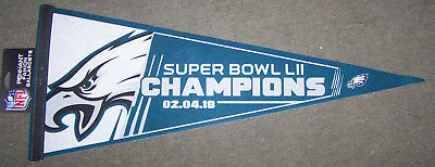 1 Philadelphia Eagles 2017 Super Bowl 52 Champions Commemorative Felt Pennant