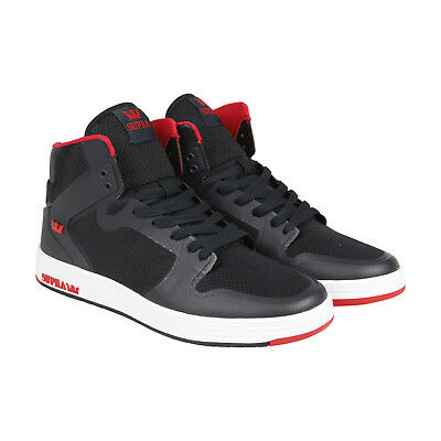 Supra Vaider 2-0 Mens Black Mesh High Top Lace Up Sneakers Shoes