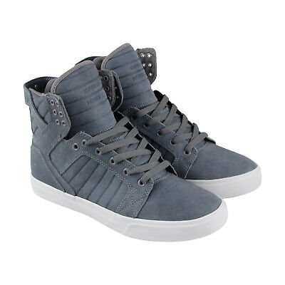 Supra Skytop Mens Blue Canvas High Top Lace Up Sneakers Shoes