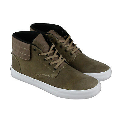 Supra Passion Mens Brown Leather High Top Lace Up Sneakers Shoes