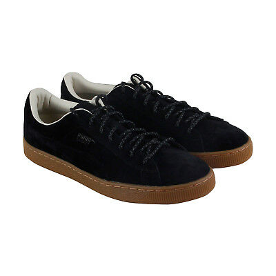 Puma Basket Classic Winterized Mens Black Suede Lace Up Sneakers Shoes