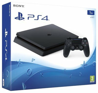 NEW - SEALED Sony PlayStation 4 Slim 1TB Jet Black Console w Controller