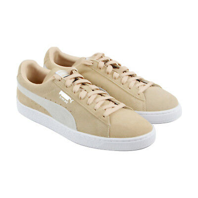 Puma Classic - Mens Tan Suede Lace Up Sneakers Shoes