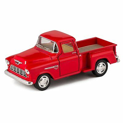 Kinsmart 132 1955 Chevy Step side Pick-Up Die Cast Collectible Toy Truck RED