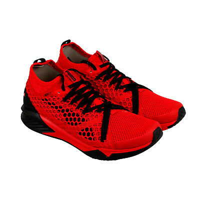 Puma Ignite Xt Netfit Mens Red Mesh Athletic Lace Up Running Shoes
