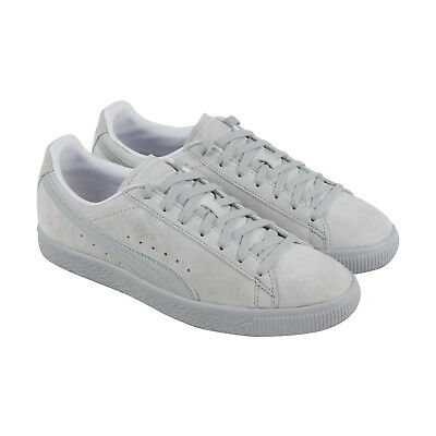 Puma Clyde Normcore Mens Gray Suede Lace Up Sneakers Shoes