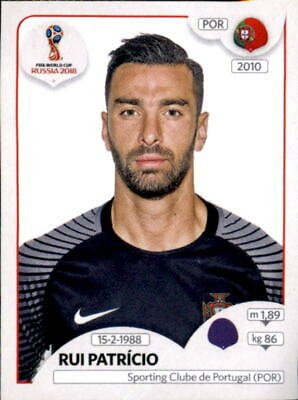 PANINI WM 2018 WORLD CUP RUSSIA STICKER 114 RUI PATR CIO PORTUGAL