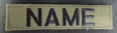 CUSTOM EMBROIDERED MILITARY STYLE NAME TAGS WITH HOOKS 4 5 or 6 inch