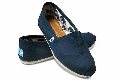 NEW Authentic TOMS Womens CLASSIC NAVY Canvas flats shoes PICK SIZE