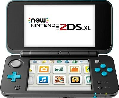 Nintendo 2DS XL BlackTurquoise-30 gamesgifts Minecraft Mario Zelda Pokemon