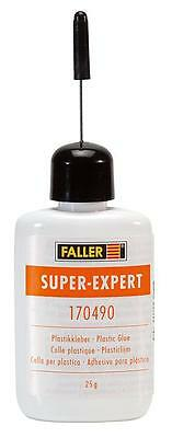 FALLER ALL SCALE SUPER EXPERT PLASTIC GLUE 25G BOTTLE SHIPS FROM USA  170490