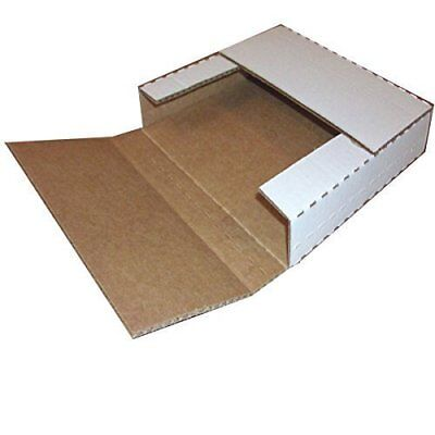 Vinyl Record Mailers White Holds 1- 6 - 45 rpm 12 Record LP Cardboard 100 2000