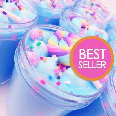 Unicorn Birthday Cake Slime Scented with Charm - Made in USA