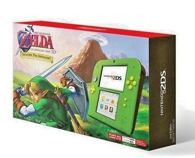 NEW NINTENDO 2DS CONSOLE WITH THE LEGEND OF ZELDA OCARINA OF TIME 3D