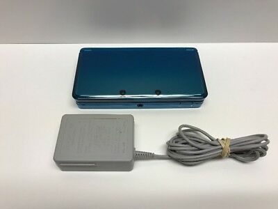 Nintendo 3DS Aqua Blue Console  CTR-001  Tested  Working