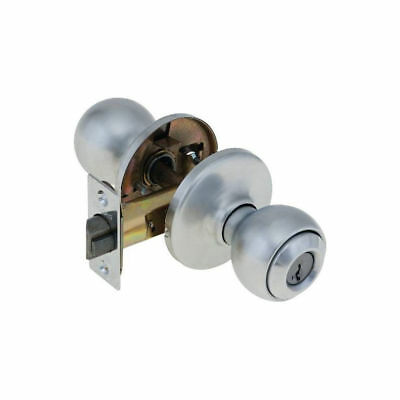 Kwikset Polo Entry Knob featuring SmartKey Polished Chrome 400P 26 MT RCAL