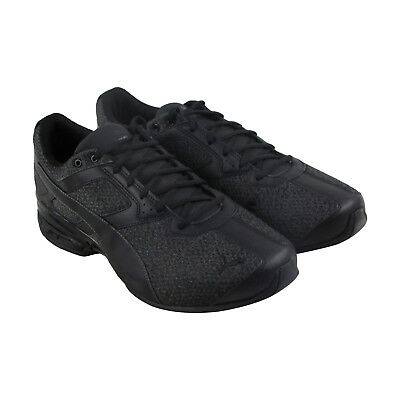 Puma Tazon 6 Knit Mens Black Synthetic Athletic Lace Up Running Shoes