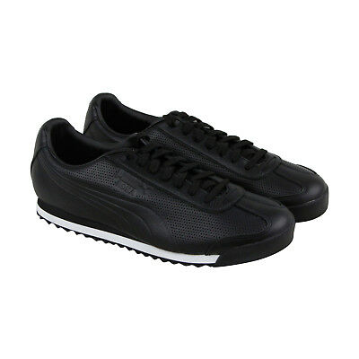 Puma Roma Dlx Perf Mens Black Synthetic Lace Up Sneakers Shoes
