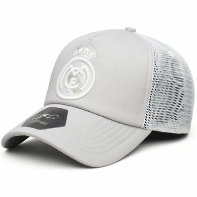 Real Madrid Fog Trucker Snapback Adjustable Hat - Gray