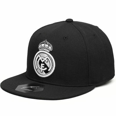 Real Madrid Hit Adjustable Snapback Hat - Black