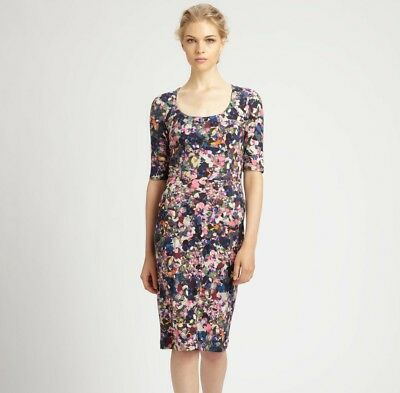 RRP £590 Erdem Etta Pink Floral Jersey Dress size UK 10 Kate Middleton SOLD OUT