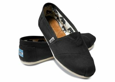 NEW Authentic TOMS Womens CLASSIC Black Canvas flats shoes PICK SIZE