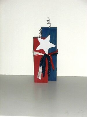 Fourth of July Patriotic Wood Crafted Firecracker  Standing Decoration 10
