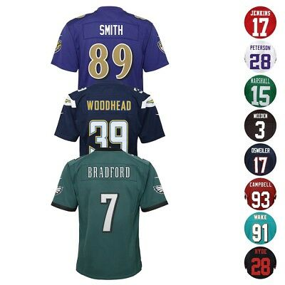 Nike Official NFL Home Away Alt Team Player Game Jersey Collection Youth S-XL