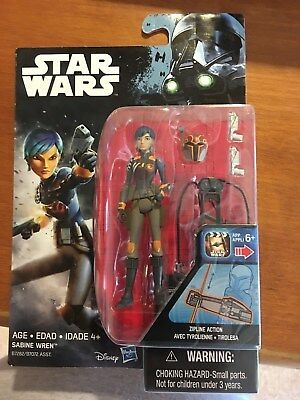 Star Wars 3 34 Sabine Wren Action Figure New on Card Hasbro