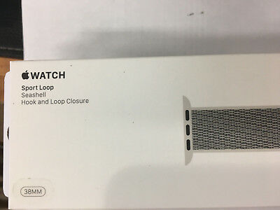 NEW Sport Loop Band for Apple Watch 38mm Seashell MQVY2AMa Original Genuine