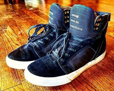 supra muska 001 11-5 checkmate 2015 zumies 100k black gold skytop suede leather