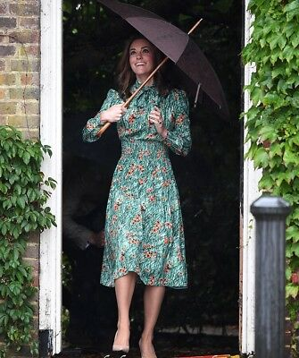 ASO Duchess of Cambridge DOC Kate Middleton Replikate Green Poppy Dress