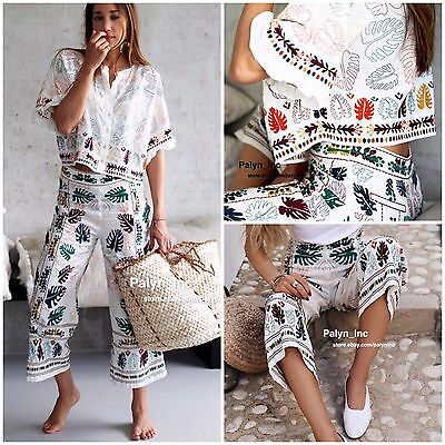 Rare-NWT ZARA SS17 EMBROIDERED LINEN SHIRT TOP BLOUSE 7521062-XS S M L