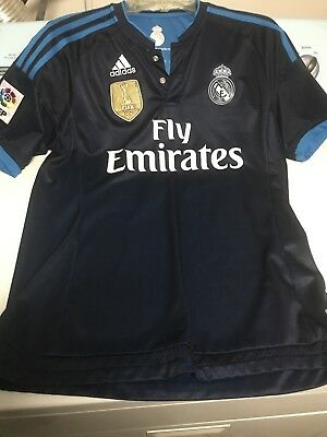 James Rodriguez 10 Real Madrid Adult Blue Jersey Large