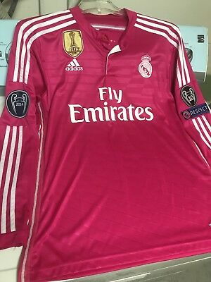 Real Madrid Cristiano Ronaldo 7 Adult Pink Long Sleeve Jersey w patches L