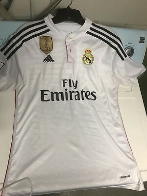 James Rodriguez 10 Real Madrid Adult White Jersey Large