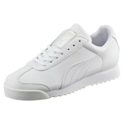 Puma Roma Basic 353572 21 White Light Gray Insole Mens Shoes Sneakers All Sizes