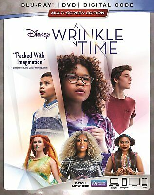 A Wrinkle in Time wSlipcover Blu-Ray DVD Digital NEW