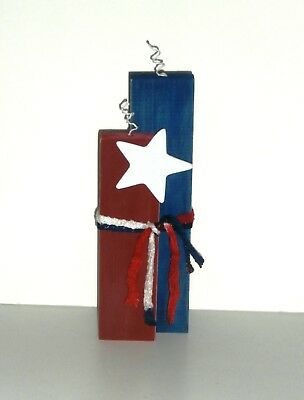 Fourth of July Patriotic Wood Crafted Firecracker  Standing Decoration 12