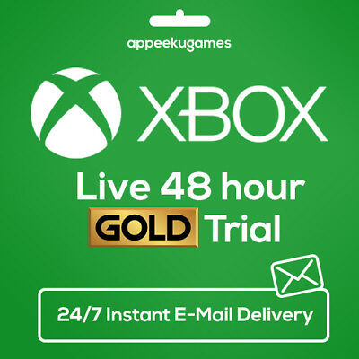 XBOX LIVE 48 HOUR 2 DAYS GOLD TRIAL CODE 48HR - INSTANT DISPATCH 247