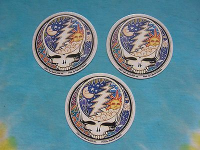 Set of 3 Grateful Dead NightDay Steal Your Face SYF MINI 2-5 Inch Stickers
