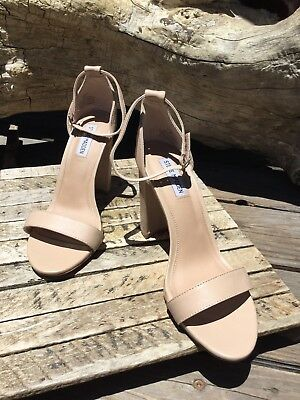 90 Steve Madden Carrson Sandal Heels Blush Leather Women Sz 9  M