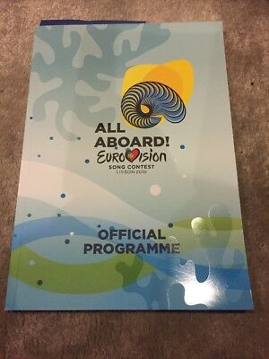 Eurovision 2018 Lisbon Official Program Book All Aboard NEW Programme
