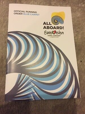 Eurovision 2018 Lisbon Official Blue Carpet Program Book All Aboard NEW