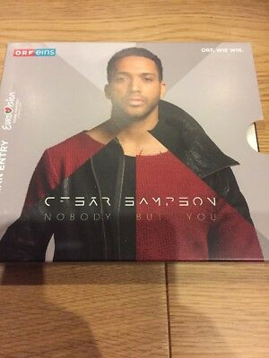 Eurovision 2018 Austria Cesar Sampson Nobody But You Brand New CD Press Kit