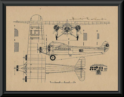 Amelia Earhart Autograph Reprint Diagram of Fokker On 90 Year Old Paper P054