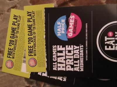 Dave and Busters Voucher - 20 Buy 20 Get 20 on your Power Card